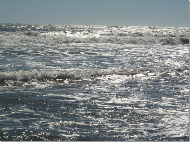 Waves in Ocracoke.