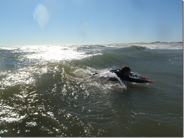 Body surfing in Ocracoke.